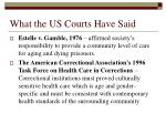 what the us courts have said