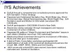 iys achievements