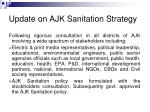 update on ajk sanitation strategy