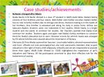 case studies achievements