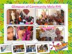 glimpses of community mela ryk