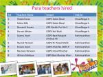 para teachers hired