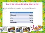 province wise estimated destruction