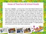 views of teachers school heads1