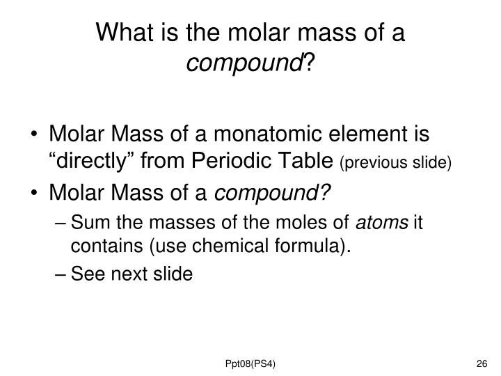 What is the molar mass of a
