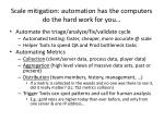scale mitigation automation has the computers do the hard work for you