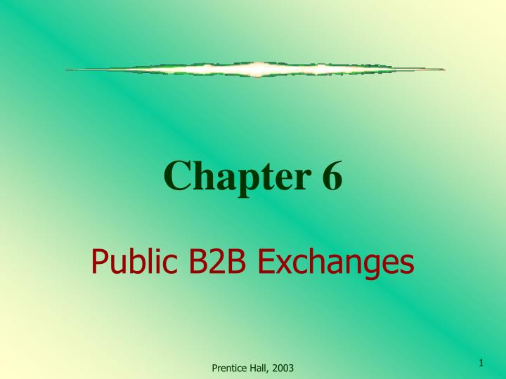 chapter 6 public b2b exchanges n.
