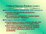 critical success factors cont6