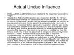 actual undue influence3
