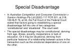 special disadvantage1