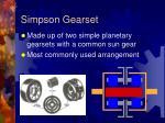 simpson gearset
