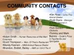 community contacts
