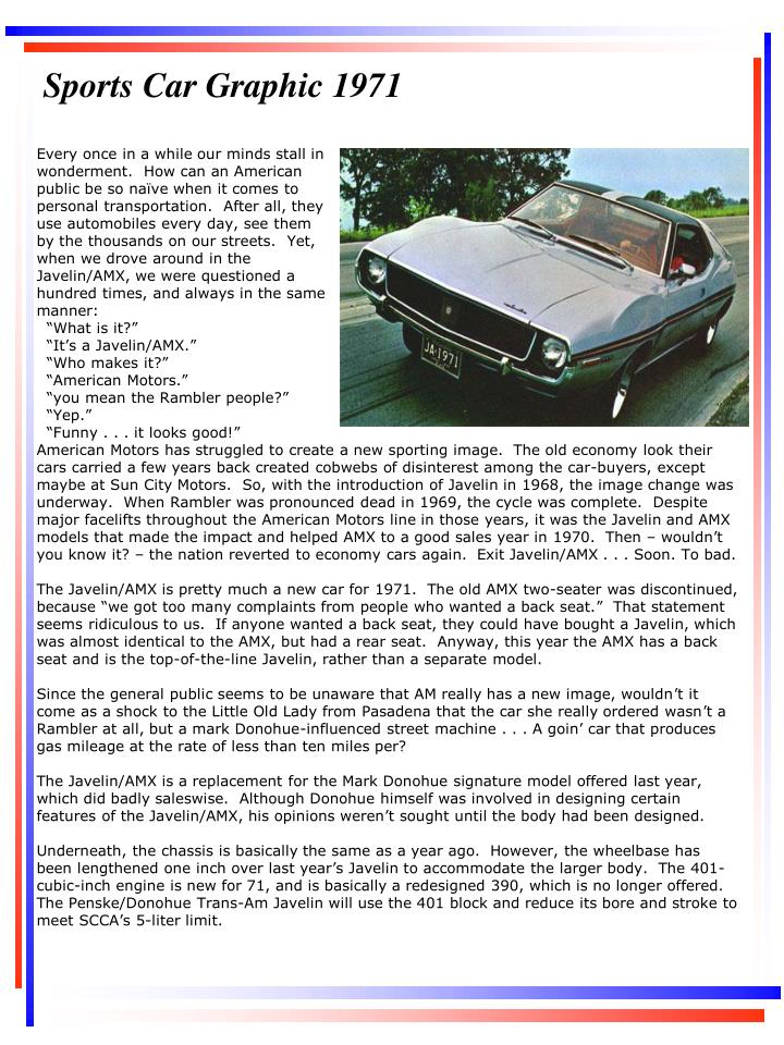Sports Car Graphic 1971