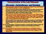 characteristics of the late paleozoic devonian carboniferous and permian