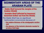 sedimentary areas of the arabian plate