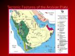 tectonic features of the arabian plate