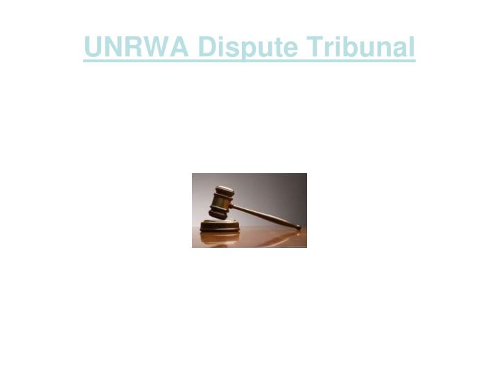 unrwa dispute tribunal n.
