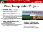 clean transportation projects