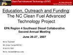 education outreach and funding the nc clean fuel advanced technology project