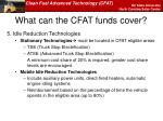 what can the cfat funds cover2