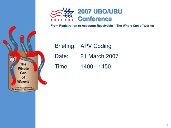 Briefing apv coding date 21 march 2007 time 1400 1450
