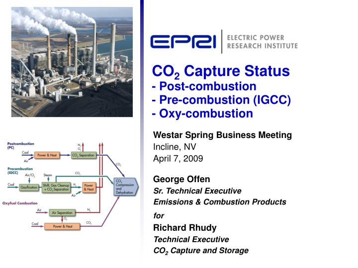co 2 capture status post combustion pre combustion igcc oxy combustion n.