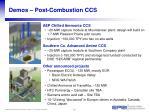 demos post combustion ccs