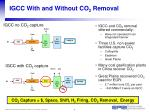 igcc with and without co 2 removal