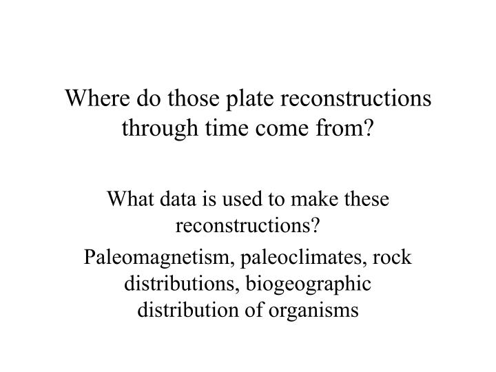 where do those plate reconstructions through time come from n.