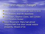 social and literary changes