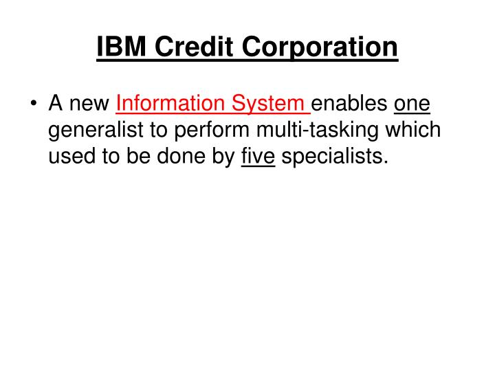 ibm credit corporation n.