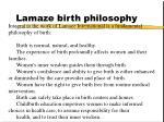 lamaze birth philosophy