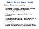 battery control center con t2