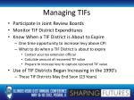 managing tifs