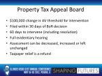 property tax appeal board