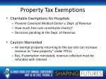 property tax exemptions1
