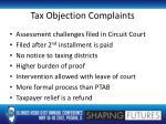 tax objection complaints