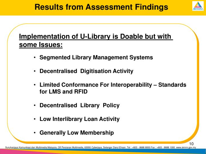 Results from Assessment Findings