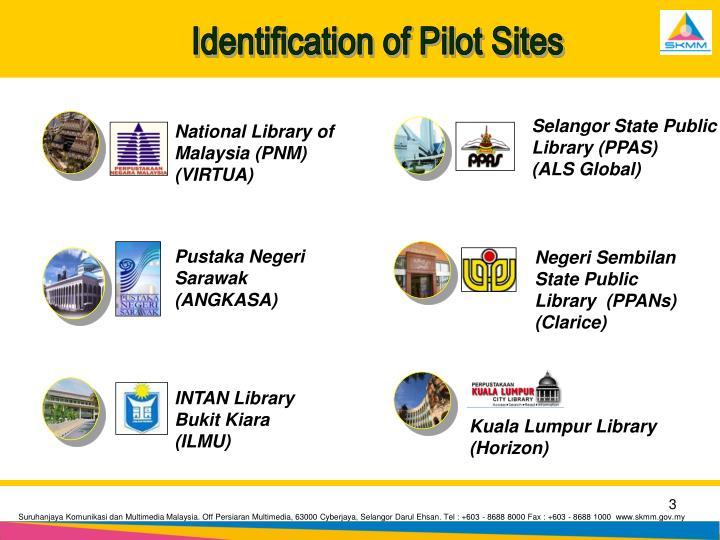 Identification of Pilot Sites