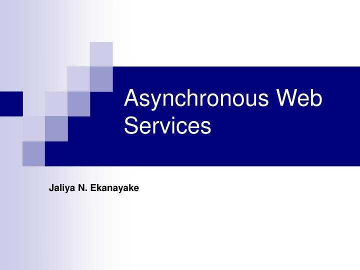 asynchronous web services n.