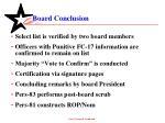 board conclusion