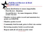 full record review brief az iz only