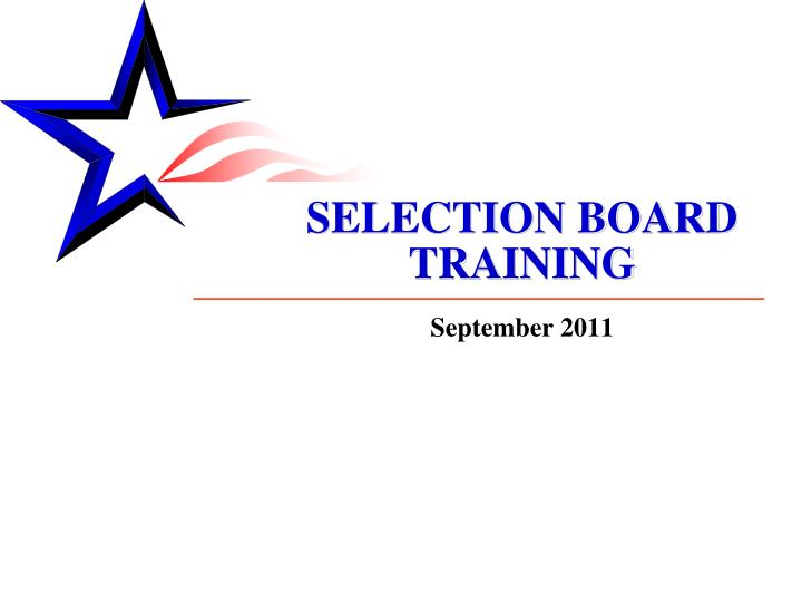 selection board training n.