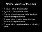 normal waves of the ekg
