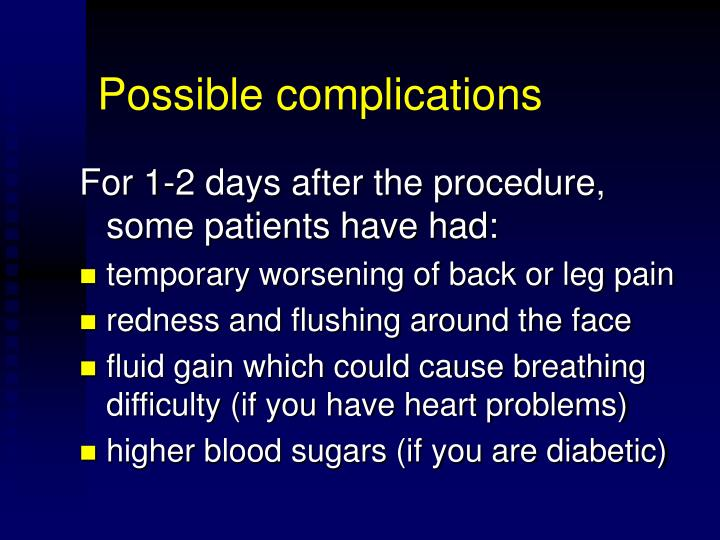 Possible complications