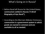 what s going on in russia