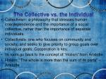 the collective vs the individual