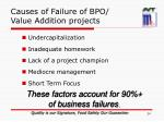 causes of failure of bpo value addition projects