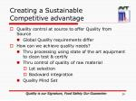 creating a sustainable competitive advantage2