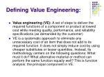 defining value engineering